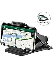 Bovon Support Téléphone Voiture, Support Smartphone Voiture Fixation sur Tableau de Bord avec 5 Clips de Câble, GPS Stand pour Téléphone Mobile
