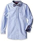 Tommy Hilfiger Boys' Long Sleeve Stretch Dress Shirt with Bow Tie