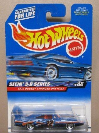 Hotwheels 1970 Dodge Charger Daytona-Seein 3D Series 2000-010 #2 of 4 (22' Wheels 3 Piece)