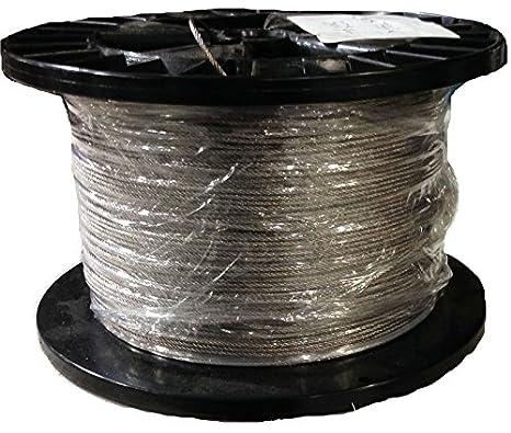 Amazon.com: 3/64 7 x 7 acero inoxidable las aeronaves Cable ...