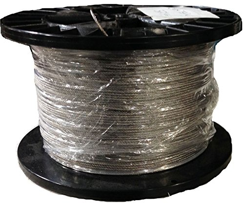 1/16 7x19 Stainless Steel Wire Rope Aircraft Cable T304 250' Reel ()