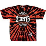 Liquid Blue Adult MLB Burst Tie-Dye T-Shirt - San Francisco Giants