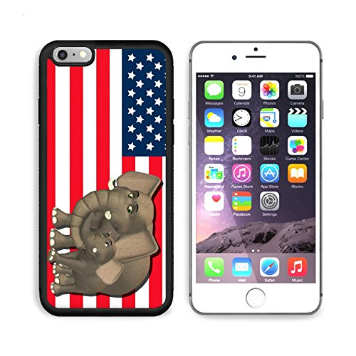 State Mascot Baby Mobile (MSD Premium Apple iPhone 6/6S Plus Aluminum Backplate Bumper Snap Case iPhone6 Plus IMAGE ID: 13768414 Illustration of a mother with a baby in front of the flag of the united states of america)