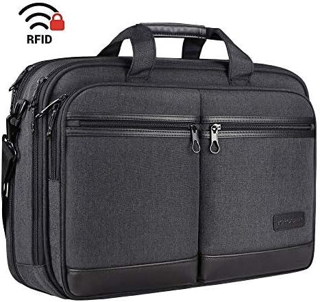 KROSER Briefcase Expandable Water Repellent Women Black product image