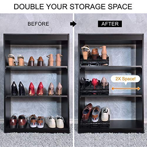 705f385aafa20 New Upgraded Adjustable Shoes Organizer | Best Quality Shoe Slots | Closet  Storage Space Saver | Durable | Holds High Heels to Sneakers, For men, ...