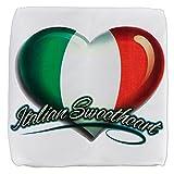 13 Inch 6-Sided Cube Ottoman Italian Sweetheart Italy Flag