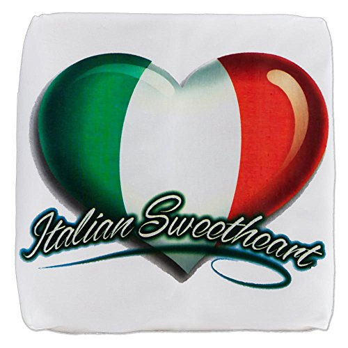 18 Inch 6-Sided Cube Ottoman Italian Sweetheart Italy Flag by Royal Lion