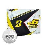 Bridgestone e6 Speed Personalized Golf Balls - Add Your Own Text (12 Dozen) - Yellow