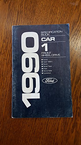 1990 Specification Book: Car 1 Front Wheel Drive