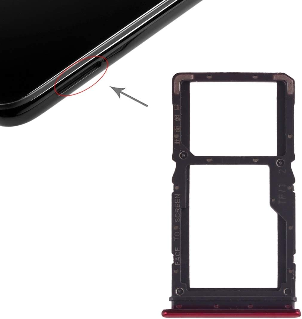 Amazon.com: SIM Card Tools and Accessories SIM Card Tray + SIM Card Tray/Micro  SD Card Tray for Xiaomi Redmi Note 7 / Redmi Note 7 Pro (Black) (Color :  Red): Electronics