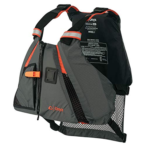 ONYX MoveVent Dynamic Paddle Sports Life Vest, Orange, Medium/Large - Stearns Life Jackets