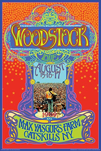 - Aquarius NMR Woodstock Max Yasgurs Farm Concert Poster 24x36 Inch