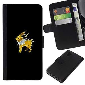 NEECELL GIFT forCITY // Billetera de cuero Caso Cubierta de protección Carcasa / Leather Wallet Case for LG Nexus 5 D820 D821 // Jolteon P0kemon