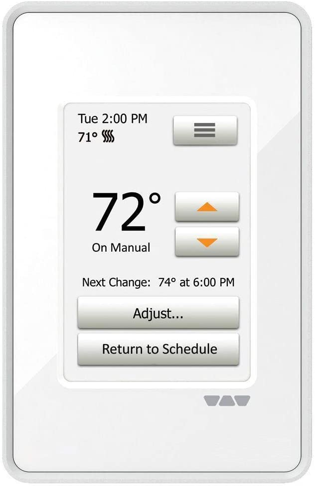 DITRA-Heat-E-RT Touchscreen Programmable Floor Heating Thermostat DHERT102/BW