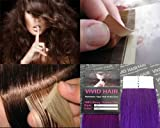 10 Pcs X 22″ inches Remy Seamless Tape In Skin weft Human Hair Extensions Color Purple