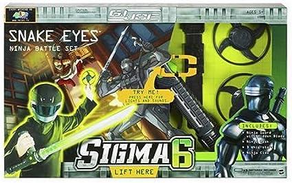 Amazon.com: Hasbro G.I. Joe Sigma 6: Snake Eyes Ninja Battle ...