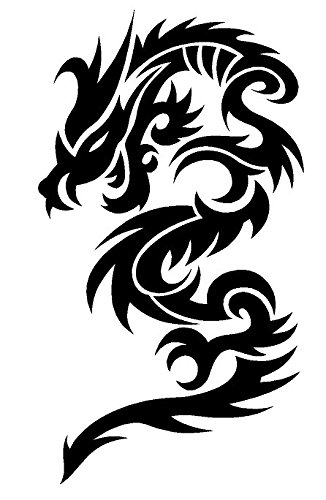 132275966 Image Unavailable. Image not available for. Color: Newclew Tribal DRAGON  flying Black or White Sticker ...
