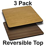 """Flash Furniture 3 Pk. 30"""" Square Table Top with Natural or Walnut Reversible Laminate Top Review"""