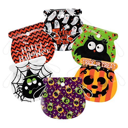 Easy Halloween Party Treats (Amosfun 72PCS Halloween Drawstring Goody Bag Halloween Candy Bags Halloween Treat Bags for Kids Halloween Party Gift Sacks and)