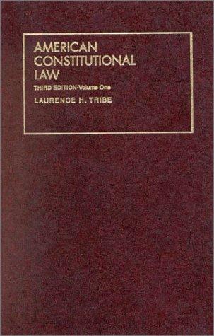 1: American Constitutional Law (University Treatise Series)