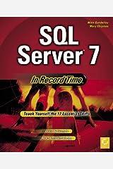 SQL Server 7 in Record Time Mass Market Paperback