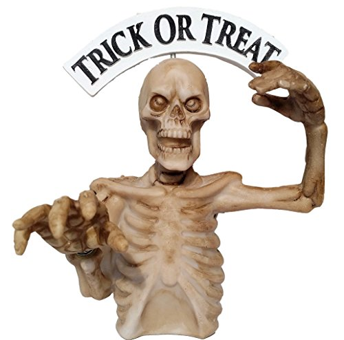 """Halloween Zombie Skeleton Scary Bobble Finger """"BOO"""" Trick or Treat Bobblehead holiday decorative gift"""
