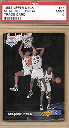 Amazoncom 1992 Upper Deck 1 Shaquille Oneal Rookie Card