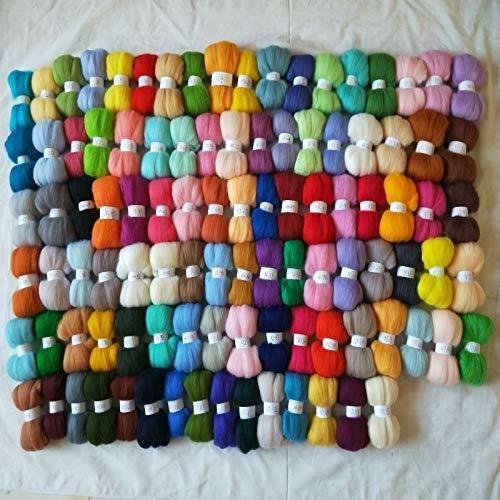 Maslin Felt Merino Sheep Wool Needle Felting Wool roving for Needle Felted Wool 50g 100g 150g 200g 300g Any Color Number - (Color: 500g)