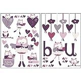 Autocollants stickers décoratifs Mam'zelle Bou - Sauthon