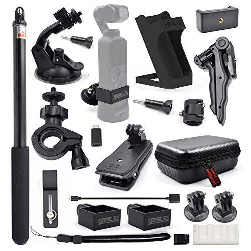STARTRC OSMO Pocket Expansion Accessories Kit, 21-in-1 Handheld Action Camera Mounts for DJI OSMO Pocket Cameras ()
