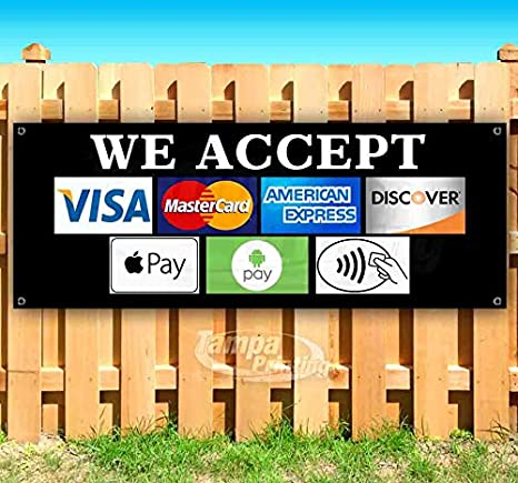 Amazon.com: We Accept Different Payment Methods - Cartel de ...