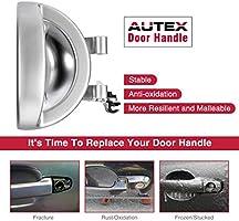 AUTEX 81633 Chrome Interior Door Handle Front//Rear Right Passenger Side Compatible with Dodge Nitro 2007 2008 2009 2010 2011 Door Handle 68004828AA