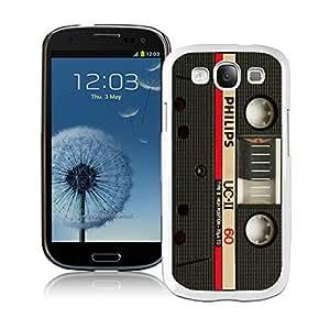 BINGO New fashion Audio Cassette Samsung Galaxy S3 i9300 Case White Cover 3 by icecream design