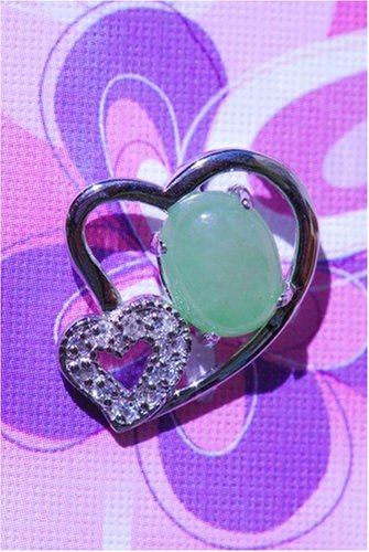 Shape Jade Diamond (Green Jade in Heart Shape with Diamond Pendant)