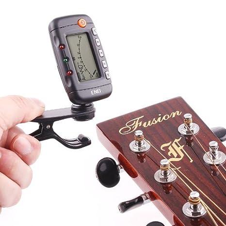 rexul £ š TM) Afinador de Guitarra 3 en 1 LCD Clip-on electrónica ...