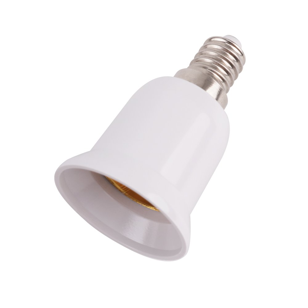 Minger Lampenfassung Adapter Konverter E14 auf E27 Lampensockel Fassung für LED Lampen, LED Birnen, Energiesparlampen, 6 Stück [Energieklasse A+] [Energieklasse A+]