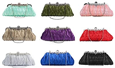 Pulama 1920s Crossbody Bag for Women, Vintage Evening Clutch Purse Wallet (two chains, 9 colors)