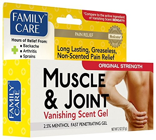 Family Care Muscle & Joint Pain Relief Vanishing Scent Gel 2oz