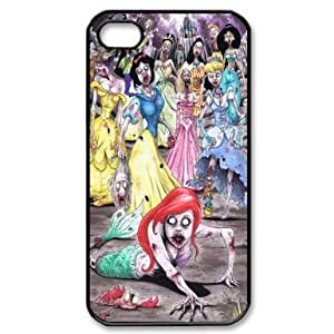 RebeccaMEI Funny Little Mermaid Princesses Zombie Style Cartoon Apple iphone 4/4s-Durable Hard Phone Case Cover