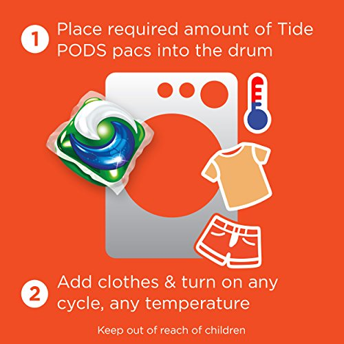 Large Product Image of Tide PODS 3 in 1 HE Turbo Laundry Detergent Pacs, Spring Meadow Scent, 81 Count Tub - Packaging May Vary