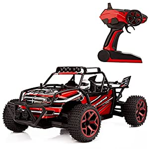 Metakoo Electric Remote Control Car - Red - 51C4A703MwL - Metakoo Remote Control Car Electric Fast Off Road High Speed 1:18 Scale 2.4GHz 4WD Rc Drift Hobby Truck-Red