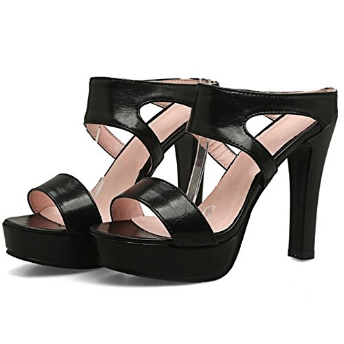 Black Sandali Donna Mode Zanpa Mules 2 TAXHw