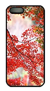 iPhone 5/5S Cases & Covers Autumn Maple Tree Design PC Case Cover Protection for the Apple iPhone 5/5s Black