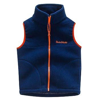 33d46bbca Amazon.com  Baby Boys Girls Vest Coat Winter Lightweight Sleeveless ...