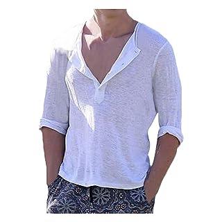 Vovotrade T-Shirt Taglie Forti per Uomo Camicia Sportiva Estiva Traspirante Manica Corta con Scollo a V Slim Camicie Fit