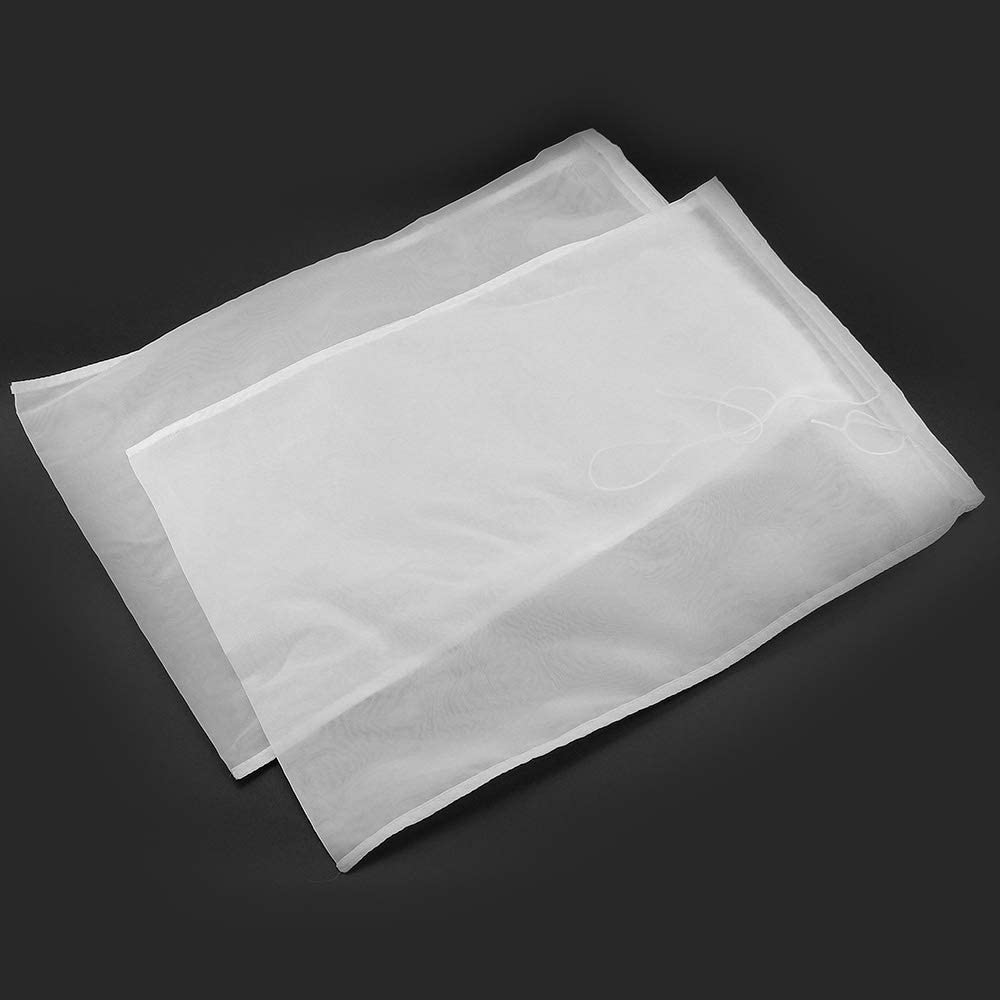 2 Pack Large Straining Bags, Fine Filter Mesh Nut Milk Bag, Homemade Cold Brew, Yoghurt, Oat Milk, Wine Making, Crab Apple Jelly, Smooth Filtration, Almond Strainer, 12 x 17.8 inch, 200 Microns