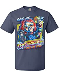80's Child's Play Give Me The Power Chucky Adult Unisex T-Shirt Powerglove