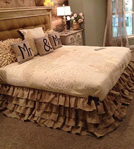 Image of Burlap Ruffle Bedskirt