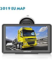 GPS Auto ¨¦Cran Tactile 7 Pouces syst¨¨me de Navigation Automatique Carte Europe 52 Pays Libre Support int¨¦GR¨¦ de 8 Go Carte SD