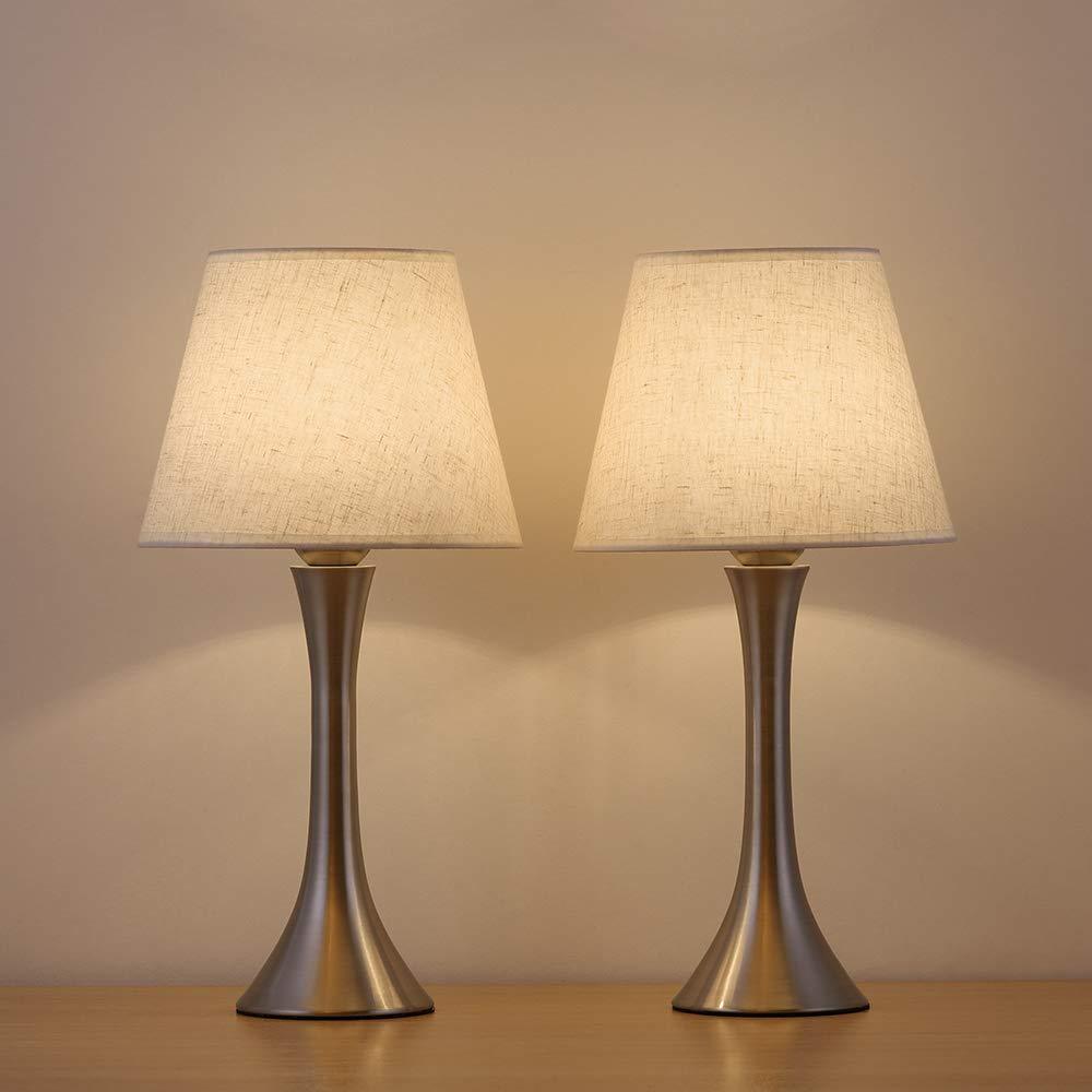 HAITRAL Table Lamp Metal Basic Bedroom lamp Minimalist Nightstand Light for Bedroom,Livingroom,Studyroom (AD007)